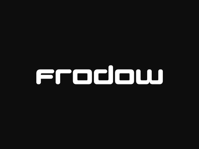 Frodow typography type logo lettering