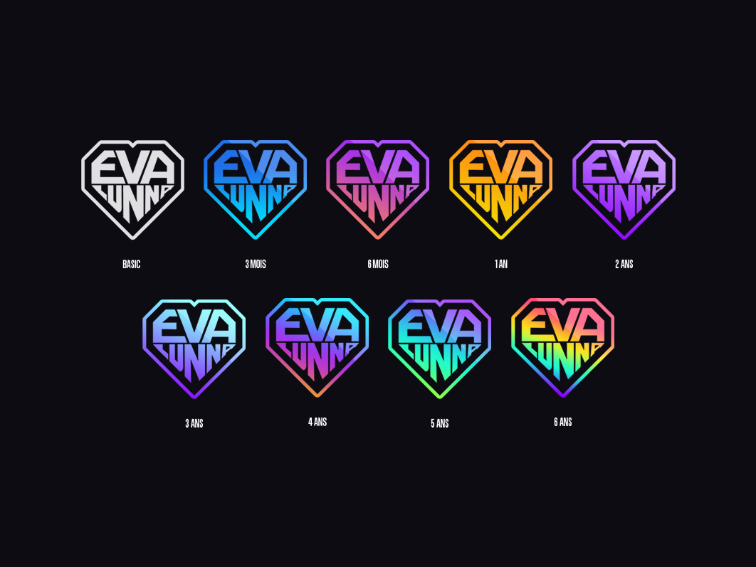 Twitch subscriber badges by mmk on Dribbble