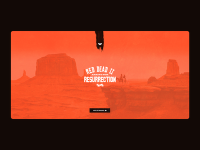 Resurrection Gaming / Landing Page gaming ui  ux landing page webdesign red dead redemption western roleplaying roleplay