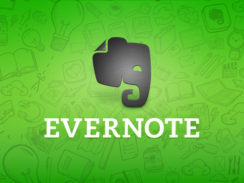 Evernote Logo evernote illustration logo elephant hand-drawn app
