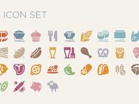 Food cuisine icon font
