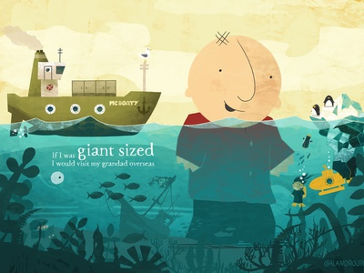 If I Was Giant - Picturebook Illustration Spread illustration design illustration art illustrations illustrator picture books picture book picturebook kids illustration kidlitart kidlit children book illustration childrens illustration childrens book illustration