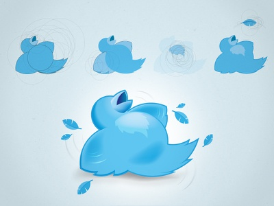 404 Twitter Down construction vector illustration icon bird blue 404 circles logo twitter bird twitter logo twitter