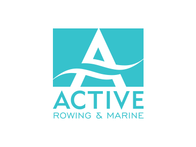 Active Rowing & Marine brand davebastian logo mark vector