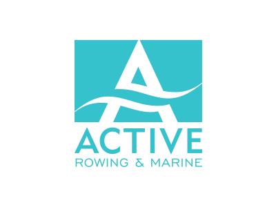 Active Rowing & Marine brand davebastian logo mark vector