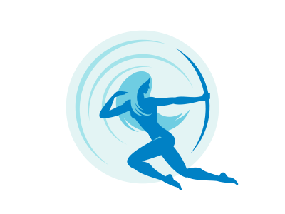 Glass Archer brand davebastian logo mark vector illustration