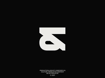 &Tomorrow Mark minimal design icon clean typography layout logo branding