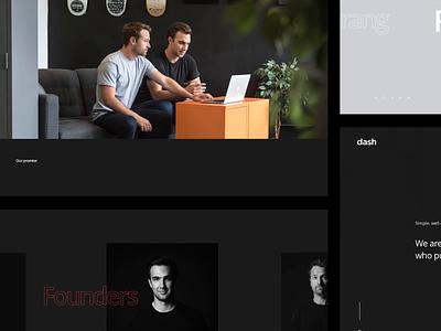 Homepage Dash Website layout black and white clean modern design agency landing ux ui web design design
