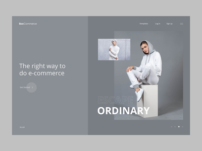 Landing Page Minimal Design fashion grid e-commerce modern clean design agency type layout ux ui minimal design