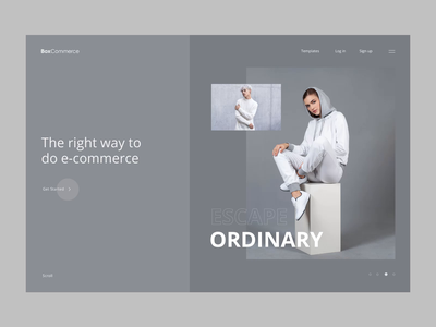 Landing Page Concepts minimal grid landing design agency fashion e-commerce layout modern clean ux ui design