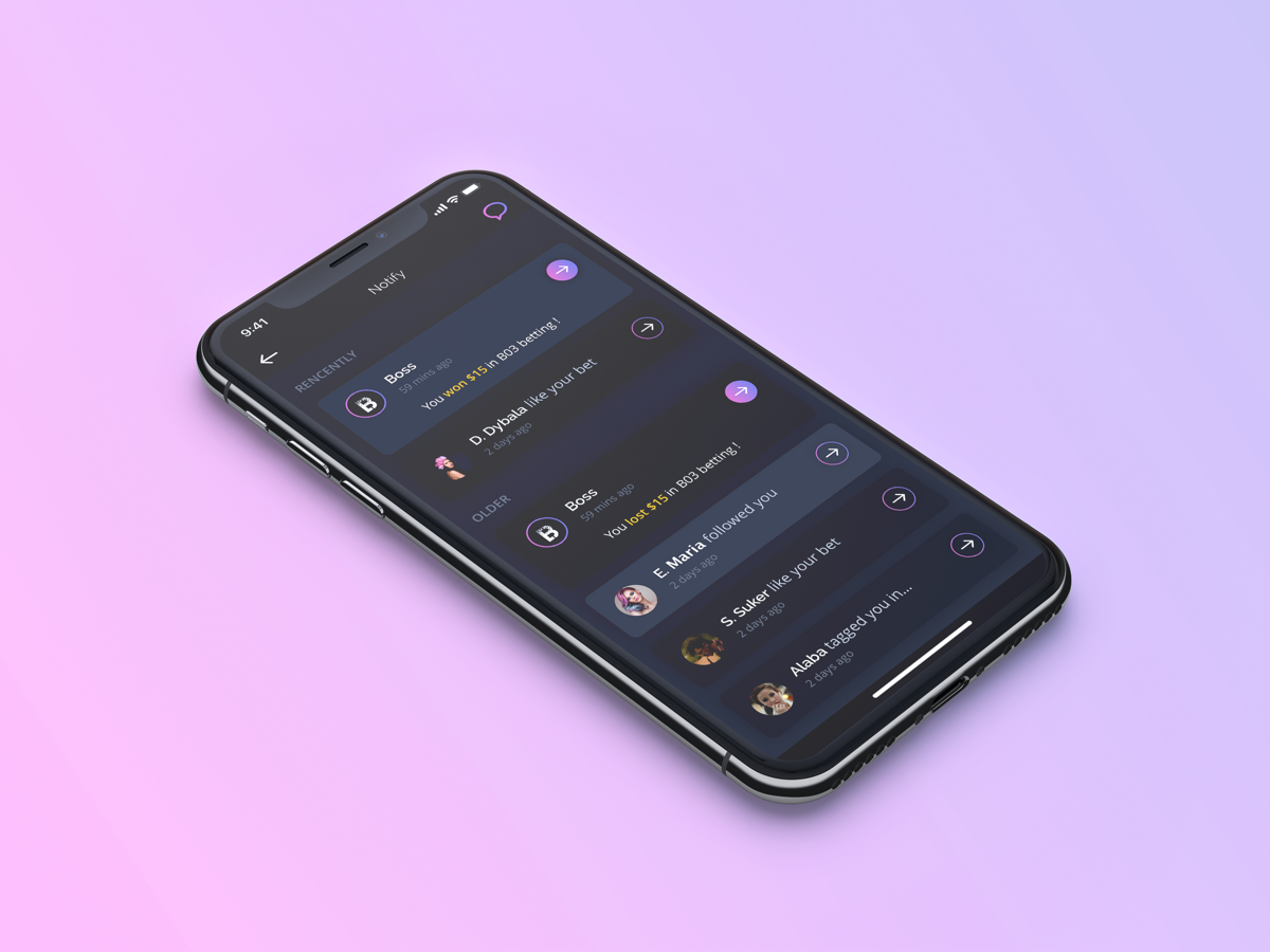 Bettor UI KIT figma esport sport templete uiux mobile app bettor lesscreate