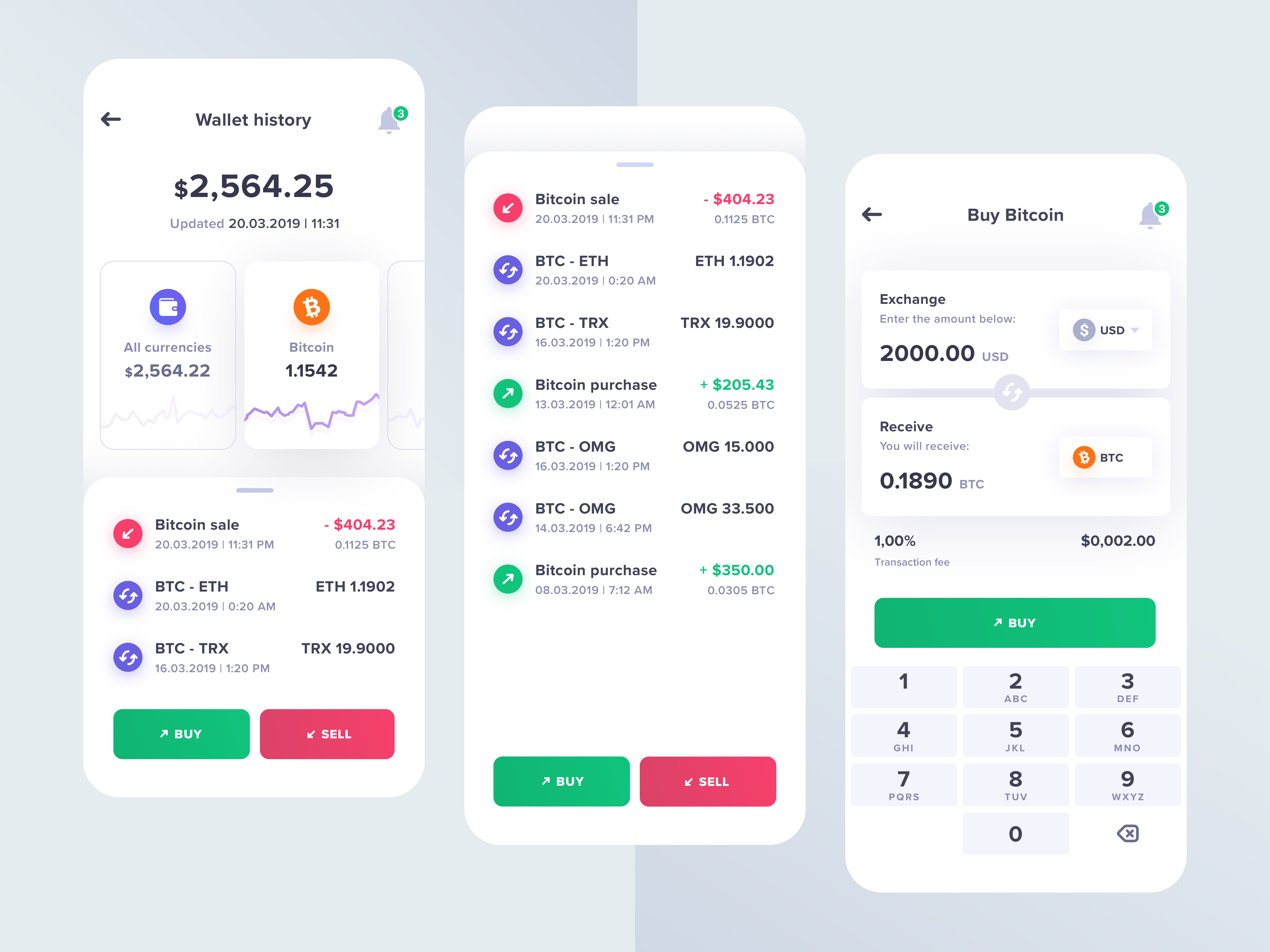 Crypto currency app  3x