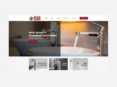 TS Plumbing clean business design web ux website design ui service plumbing