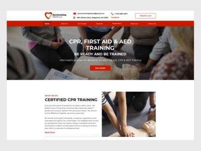 Synchronizing Hearts business design web ux website design ui