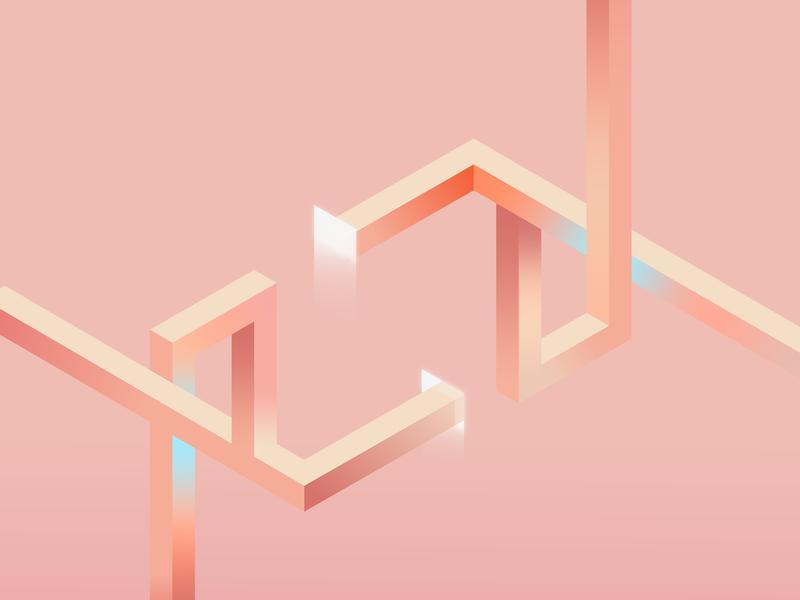Portal isometric design isometric vector illustration flat design