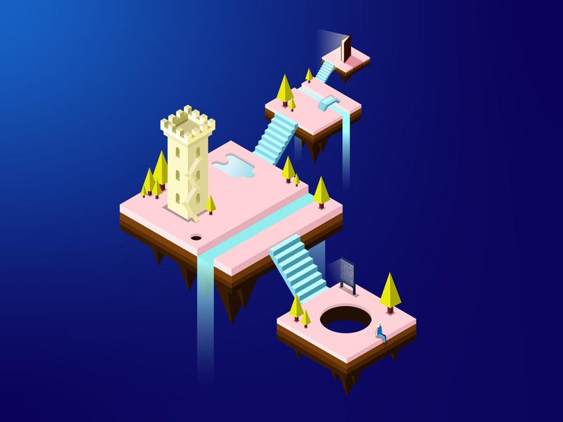 The Arrival isometric design isometric illustration design