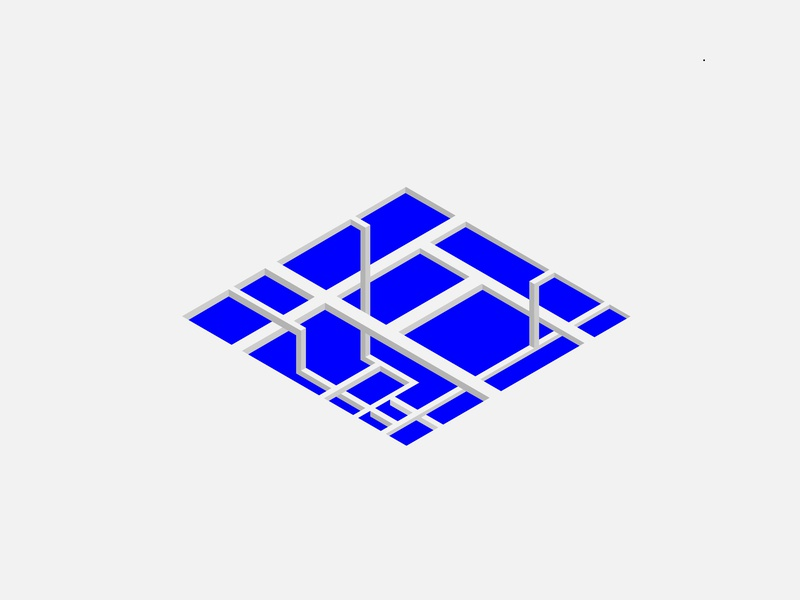 A sense of Space II isometric design isometric flat vector illustration design