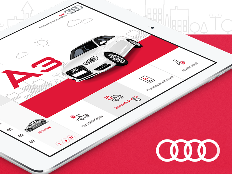 Audi Offline App by Aymen Ouertani on Dribbble
