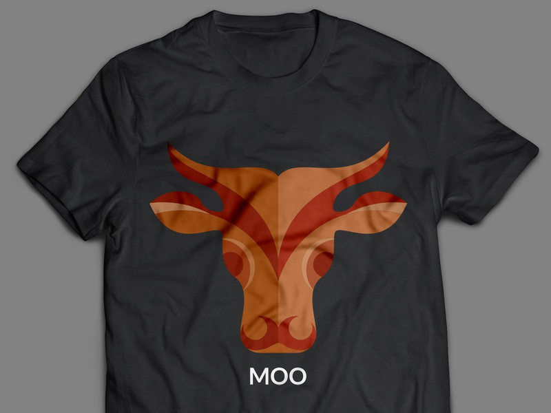Moo T Shirt Design flat design branding t-shirt design tshirt design illustration vector illustrator