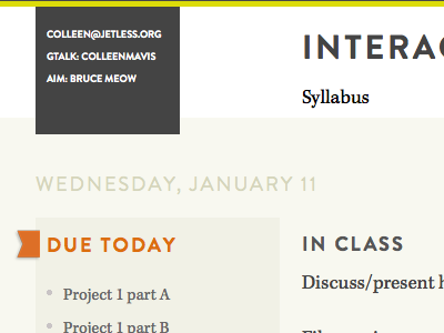 Rough draft of my teaching website