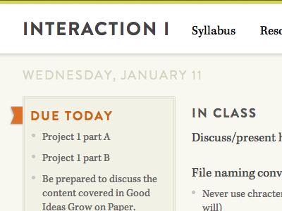 Teaching website take III
