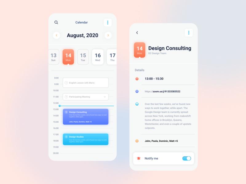 Calendar Mobile App calendar design ux ui manager task app mobile calendar