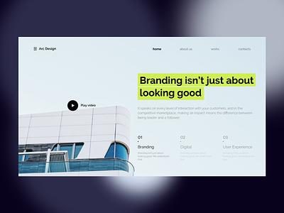 Landing page for design studio wordpress digital branding web typography ui ux agency creative web design landing page landing
