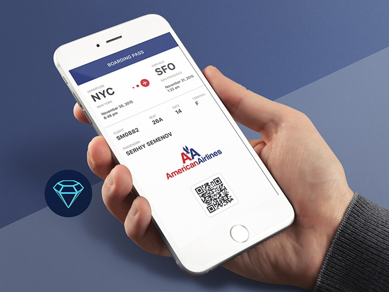 Boarding Pass - Day45 My Free UI/UX SketchApp Challenge boarding pass boarding pass day45 sketch download freebie sketchapp dailyui daily ui day100