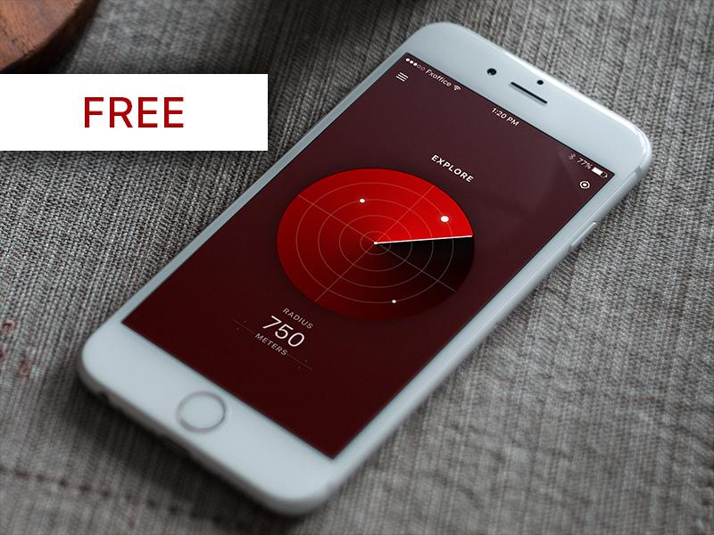 Search Radar - Day61 My UI/UX Free SketchApp Challenge radar search day61 download sketch freebie sketchapp ios mobile app daily ui day100