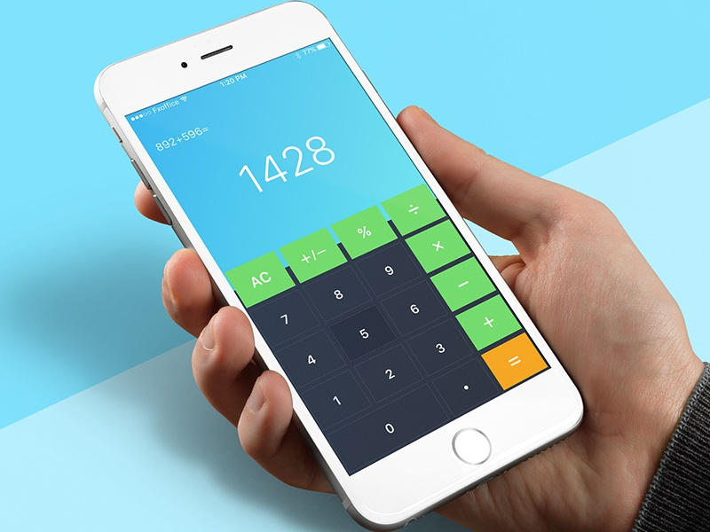 Calculator Day70 My Ui Ux Free Sketch