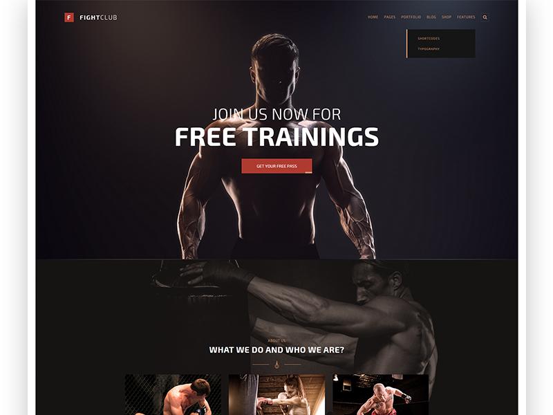 FightClub - Fight & Fitness Club Wordpress Theme by Serhiy