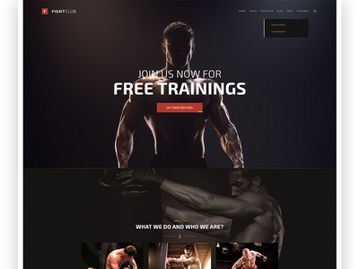 FightClub - Fight & Fitness Club Wordpress Theme shop crossfit boxing health combat gym sport wordpress mma fitness fight fightclub