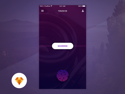 Touch ID - Day85/100 My UI/UX Free SketchApp Challenge daily ui ui ux app sketch sketchapp free ui design touch touch id