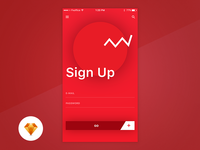 Sign Up - Day87/100 My UI/UX Free SketchApp Challenge
