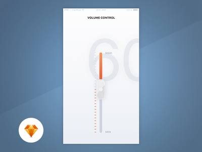 Volume Control - Day88/100 My UI/UX Free SketchApp Challenge application ios control day100 freebie free sketchapp sketch app ux ui volume