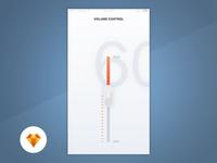 Volume Control - Day88/100 My UI/UX Free SketchApp Challenge