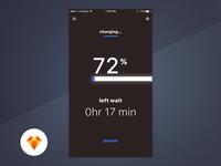Charging - Day89/100 My UI/UX Free SketchApp Challenge
