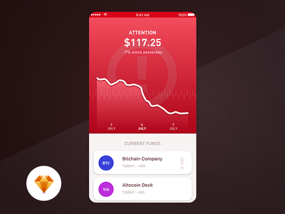 Trading App - Day 99 My UI/UX Free SketchApp Challenge free sketch mobile application day 100 blockchain bitcoin trading