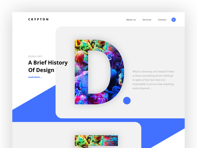 Crypton - landing for creative agency V.2 trend themeforest wordpress website landing bold font crypton creative agency
