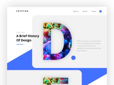 Crypton - landing for creative agency V.2 trend themeforest wordpress website landing bold font crypton creative agency