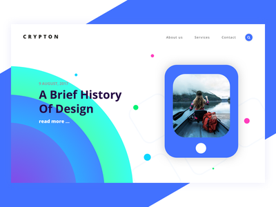 Crypton - landing for creative agency v.3 mobile blue vector wordpress themeforest landing crypton creative agency