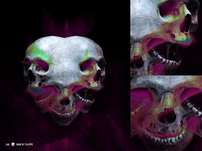 SkullShare 018 - Opinions ipadpro procreate cover art graphic skull skull art effects morbid album cover photo composition photoshop photo composite illustration graphic art skulls