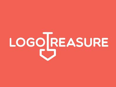 New Logotreasure logo  portfolio gallery inspiration logo treasure shovel