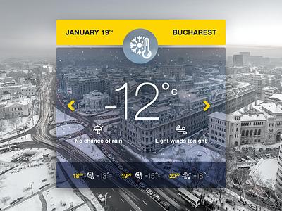 Weather Widget bucharest city widget fun weather visual ui