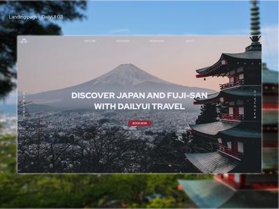 DailyUI 03 - Landing page