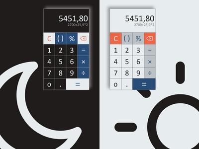DailyUI 04 - Calculator standard