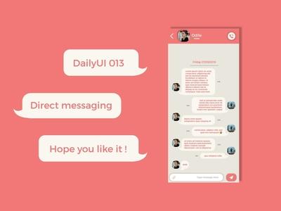 DailyUI 013 - Direct messaging