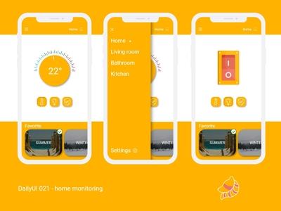 DailyUI 021 - Home monitoring