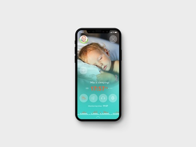 Baby Monitor by Annie – Mobile App Screen and UI