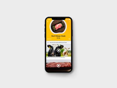 Tasty Food Scanner – Mobile App Screen and UI